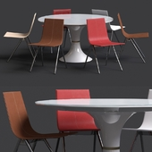 Table and chair from Modloft