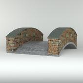Brick concrete bridge