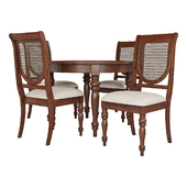 Dining Group LIFESTYLE-Table and Chairs VICTORIA TOBACCO (01)