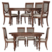 Dining Group LIFESTYLE-Table and Chairs VICTORIA TOBACCO (02)