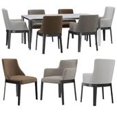 Molteni & C CHELSEA chair FILIGREE table