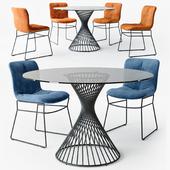 Calligaris Annie chair Vortex table