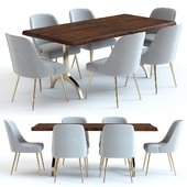 West Elm Cast Trestle Table and Chairs