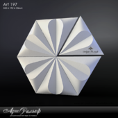Gypsum 3d Art-197 panel from ArtRelief