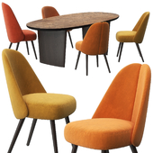 Identities chairs patchwork table by Roche Bobois