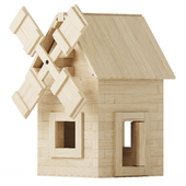 Wooden constructor. Mill