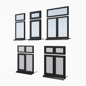 Schuco AWS 65 aluminum windows - set 1