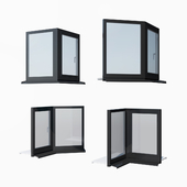Schuco AWS 65 aluminum windows - set 3