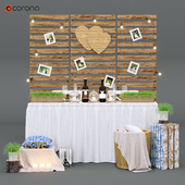 Набор для свадебной фотосессии в стиле рустик
