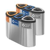 Containers for separate collection of garbage Bermuda Triple