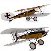 Model aircraft Pfalz (Pfalz) - decor for children's room