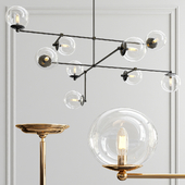 Communique 9-Light Oiled Bronze Chandelier