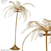 Ocean palm floor lamp