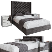 RH Adler Diamond Tufted Fabric Bed