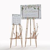 welcom board wedding