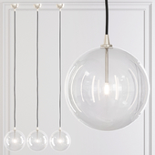 Restoration Hardware Glass Globe Mobile Pendant 10 Nickel