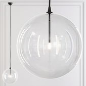 Restoration Hardware Glass Globe Mobile Pendant 14 Black