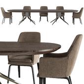 CLAYDON - Dining tables from Minotti