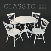 Table Favorite Classics and chair Classics