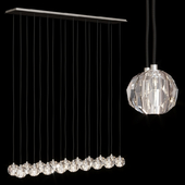 Restoration Hardware BOULE DE CRISTAL LINEAR CLUSTER CHANDELIER 72 Nickel