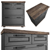 Solid wood chest of drawers in modern style