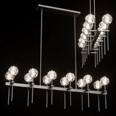 Restoration Hardware BOULE DE CRISTAL GRAND DOUBLE LINEAR CHANDELIER Black
