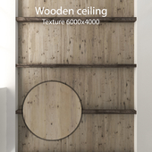 Wooden ceiling with beams 12