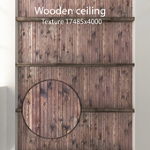 Wooden ceiling with beams 13