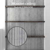 Wooden ceiling with beams 19