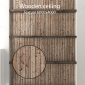 Wooden ceiling with beams 21
