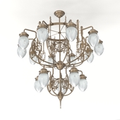 Patinas Lighting, Pannon 15 armed chandelier