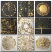 Коллекция декоративных картин. Золото. 2.