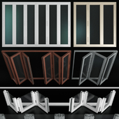 Folding stained Glass Aluminum Doors