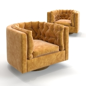 Milo Baughman - Barrel Swivel Chair