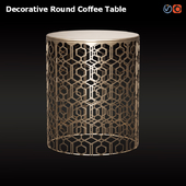Adeco Decorative Coffee Table
