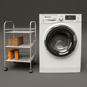 Hotpoint-Ariston RDPD 96407 and IKEA Draggan cart