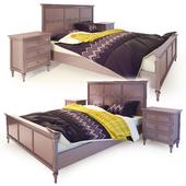 Double bed purple Riverdi. The werby
