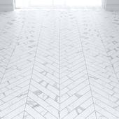 White Statuario Marble Tiles in 2 types