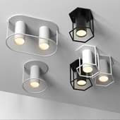 Set of 4 spot ceiling lamps by FILD Architonic