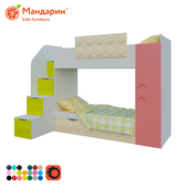 children's bunk bed with two drawers