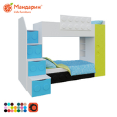children's bunk bed with extra bed