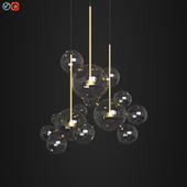 Giopato & Coombes Bolle Circular Chandelier 14 Bubbles