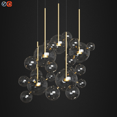 Giopato & Coombes Bolle Circular Chandelier 24 Bubbles