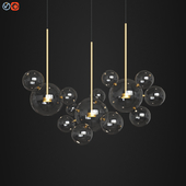 Giopato & Coombes Bolle Zigzag Chandelier 14 Bubbles