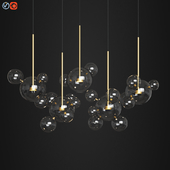 Giopato & Coombes Bolle Zigzag Chandelier 24 Bubbles