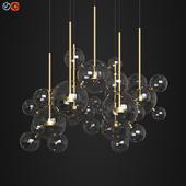 Giopato & Coombes Bolle Circular Chandelier 34 Bubbles