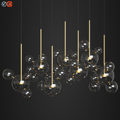 Giopato & Coombes Bolle Zigzag Chandelier 34 Bubbles