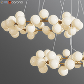 Chandelier Inflora 45 plafonds by Atelier Aret