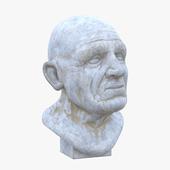 Скульптура - мужская голова 2 v_2