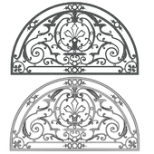 semi circle arch window grill